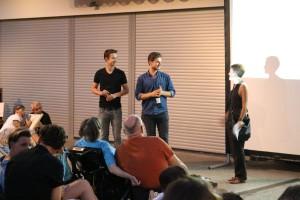 Max und Tom aus Amsterdam, die ihr Filmprojekt 'Freewhleel Stories