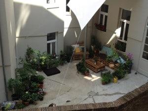 Hinterhof Oase im Wallensteinviertel